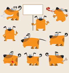 Dog set3 vector image vector image