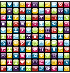 Mobile phone app icons pattern background vector image vector image