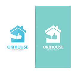 real estate and like logo combination vector image vector image