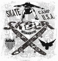 usa skate camp vector image vector image