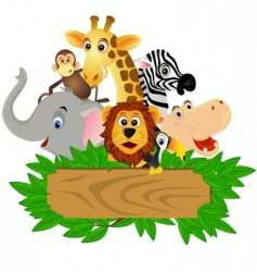 wild family vector image vector image