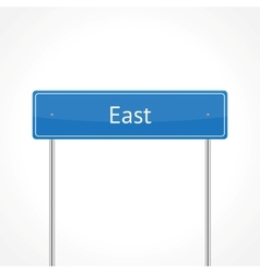 Blue east traffic sign vector image vector image