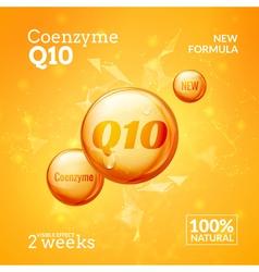 Coenzyme Q10 Supreme serum collagen oil drop vector image vector image