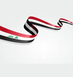 Iraqi flag background vector image