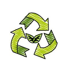 recycle symbol vector image vector image