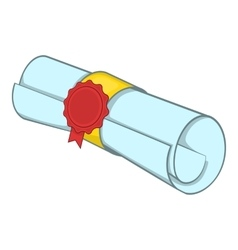 Roll of paper icon cartoon style vector image vector image