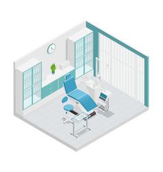 stomatology dentistry isometric cabinet vector image