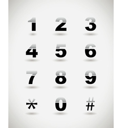 telephone numbers vector image