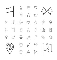 37 marker icons vector image