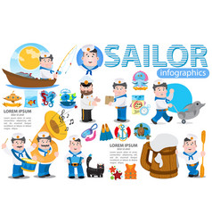 a set and elements for creating infographics vector image