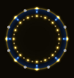 abstract blue golden ring vector image