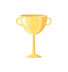 Award prize golden cup icon vector
