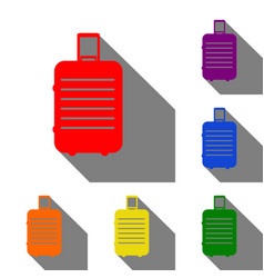 baggage sign set of red orange vector image