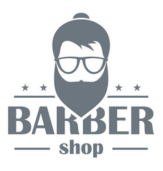 Barber shop logo simple style vector