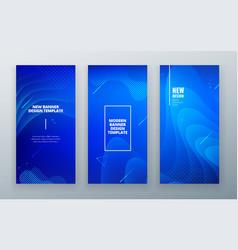 blue vertical stories sale banner background vector image