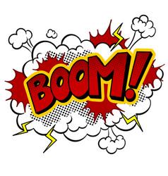 Boom word comic book pop art vector