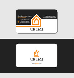 Business card template real property vector