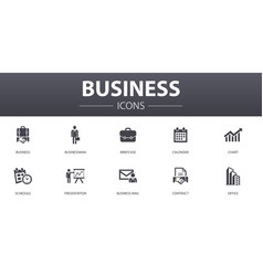 business simple concept icons set contains such vector image