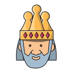 cartoon king icon image vector image