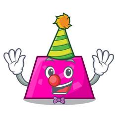 Clown trapezoid mascot cartoon style vector