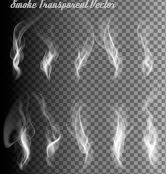 Completely transparent set of smoke vector