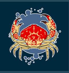 Crab sticker vector