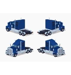 Dark-blue heavy american truck vector