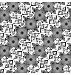 Design seamless monochrome striped pattern vector