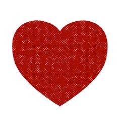 distress heart shape vector image