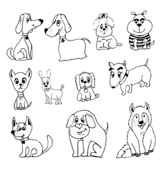 Doodle funny dog vector
