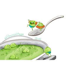 dumpling soup funny cartoon inspirational vector image
