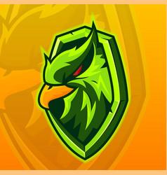E-sports team logo template with eagle vector