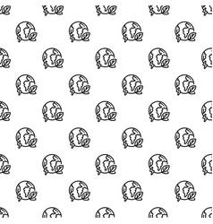 eco globe earth pattern seamless vector image