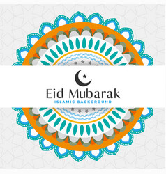 Eid mubarak islamic pattern greeting design vector