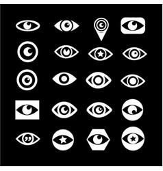 eye icon set design vector image