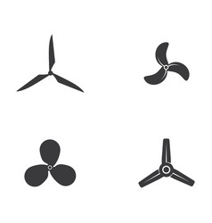 fan icon template vector image