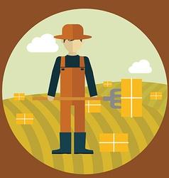 Farmer design vector