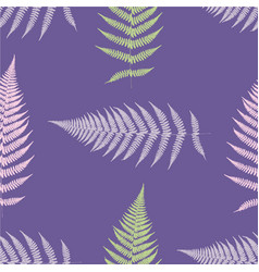 fern seamless pattern ultra violet vector image