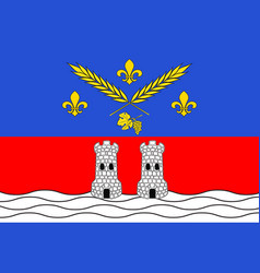 Flag of nogent-sur-marne in val-de-marne in vector