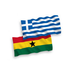 Flags greece and ghana on a white background vector