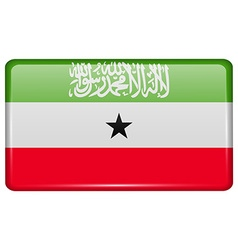 Flags Somaliland in the form of a magnet on vector image