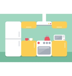 Flat design of kitchen vector image