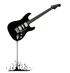 Fluid black guitar vector