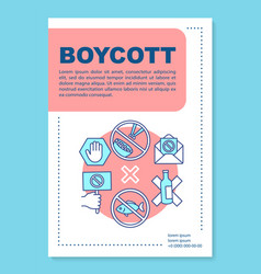 Food boycott poster template layout voluntary vector