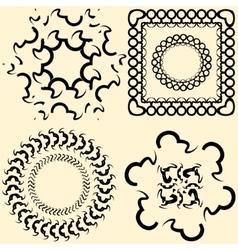 Framework for design in vintage style vector
