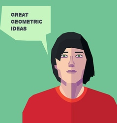 Geometric Man thinking creative personality in eps vector