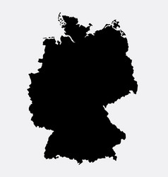 Germany island map silhouette vector