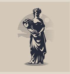 Goddess demeter or ceres vector