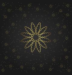 golden circular shape creative eastern symbol vector image