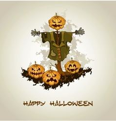 Halloween background with jack o lantern vector